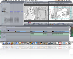 FCP timeline with HoBSoft
